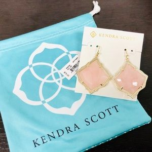 KENDRA SCOTT • Kirsten Drop Earrings • Rose Quartz